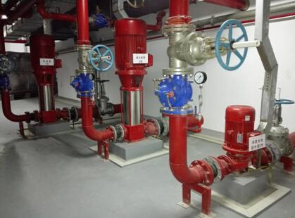 消防泵房设备安装规范,整齐,标识清晰